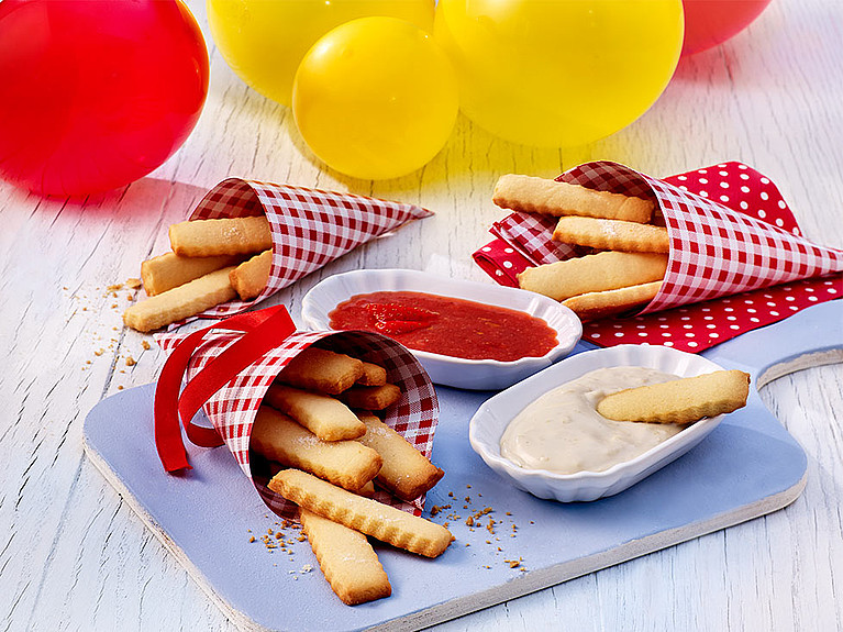 Rezept - Cookie Fries mit Kokos-Dip