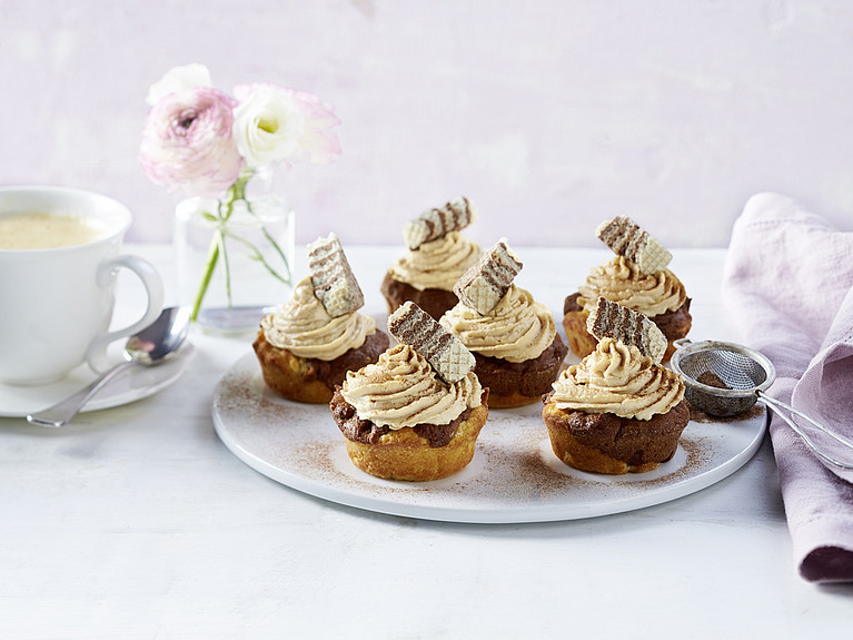 Rezept - Marmor-Muffins mit Cappuccino-Frosting